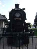 CP #1095 on display on the waterfront outside the old train station (now tourist information centre)